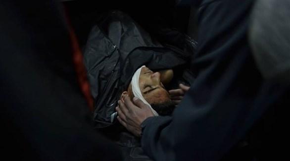جثمان الشهيد الفلسطيني أيمن أحمد حامد (تويتر)