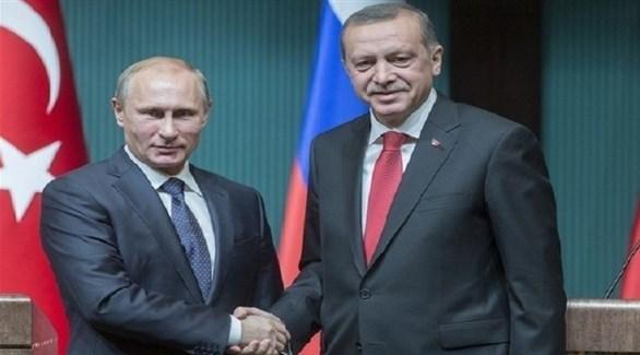 الرئيسان التركي رجب طيب أردوغان والروسي فلاديمير بوتين (أرشيف)