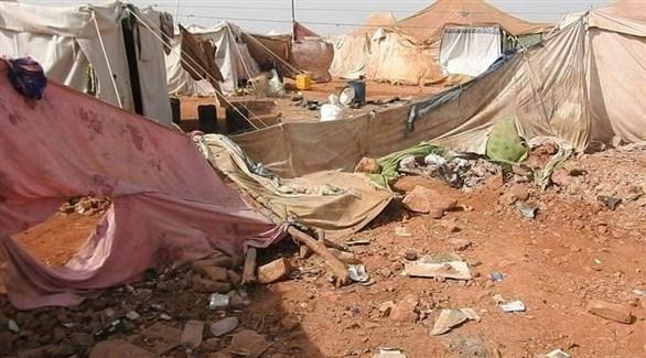 جانب من الدمار الذي لحق بالمخيم