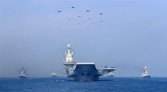 سفن عسكرية تحمل بحر الصين الجنوبي(أرشيف)