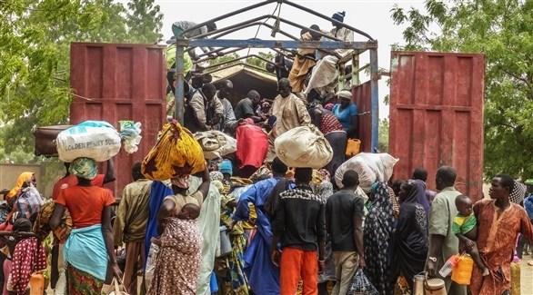 عائلات نازحة من نيجيريا (أرشيف)