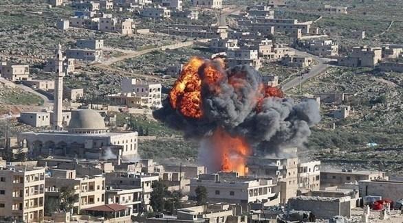 قصف على إدلب (أرشيف)