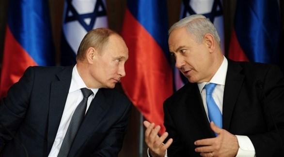 رئيس الوزراء الإسرائيلي بنيامين نتانياهو والرئيس الروسي فلاديمر بوتين (أرشيف)