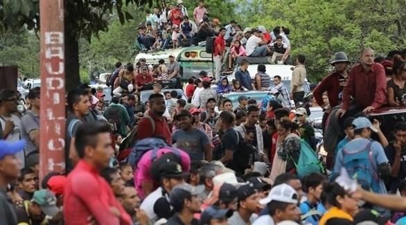 مهاجرون هندوراس متجهون إلى أمريكا (أرشيف)