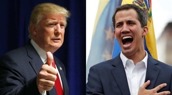 زعيم المعارضة في فنزويلا خوان غوايدو  والرئيس الأمريكي دونالد ترامب (أرشيف)