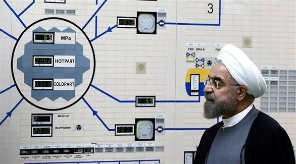 الرئيس الإيراني حسن روحاني في محطة بوشهر للطاقة النووية (أ ب)
