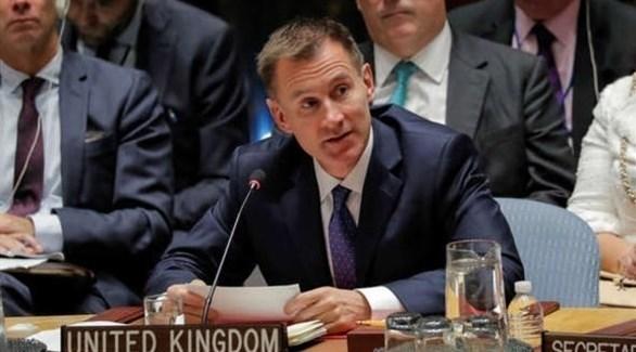 وزير الخارجية البريطاني، جيريمي هانت (أرشيف)