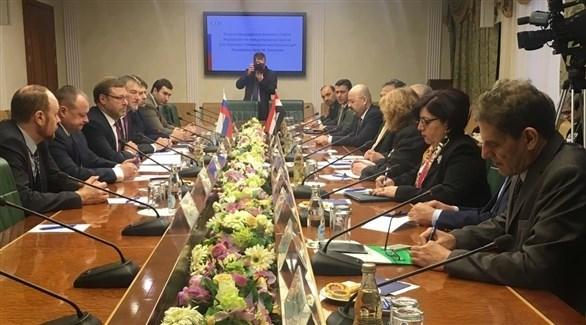 وزير الخارجية العراقي ورئيس المجلس الاتحادي الروسي (السومرية نيوز)