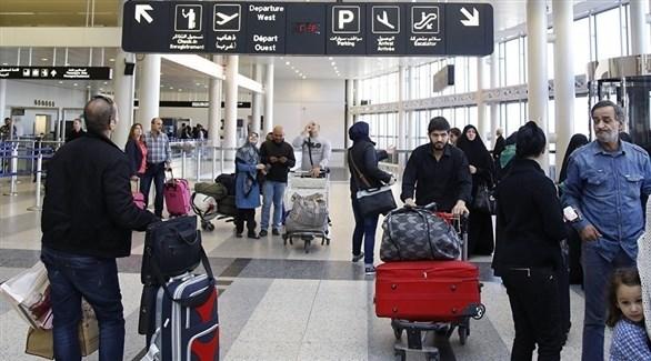 مسافرون داخل مطار رفيق الحريري الدولي (أرشيف)