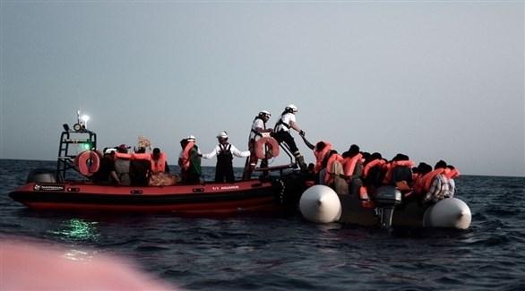مهاجرين في البحر المتوسط (أرشيف)