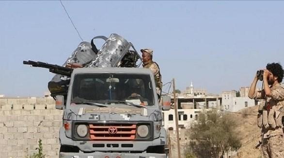 قوات الجيش اليمني في مقبنة (أرشيف)
