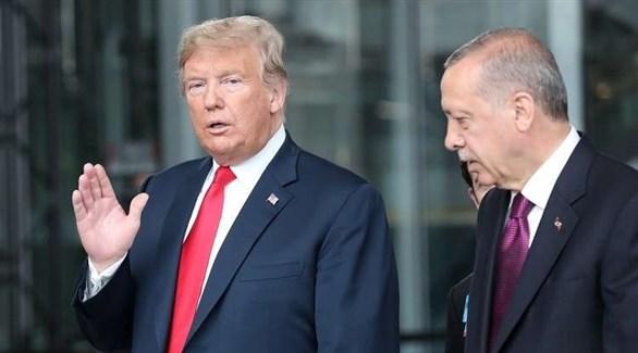 الرئيس التركي رجب طيب أردوغان ونظيره الأمريكي دونالد ترامب (أرشيف)