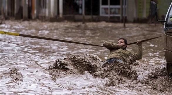 انهيارات أرضية وفيضانات في تشيلي (تويتر)