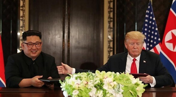 الرئيس الأمريكي ترامب وزعيم كوريا الشمالية كيم (أرشيف)