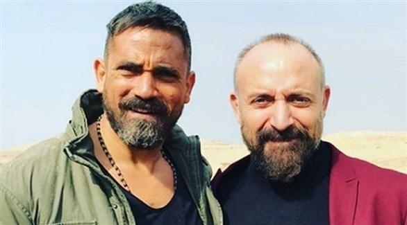أمير كرارة وخالد أرغنش في كواليس فيلم