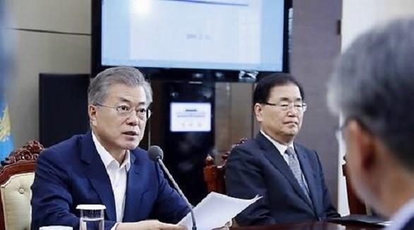 الرئيس الكوري الجنوبي مون جيه إن (يونهاب)