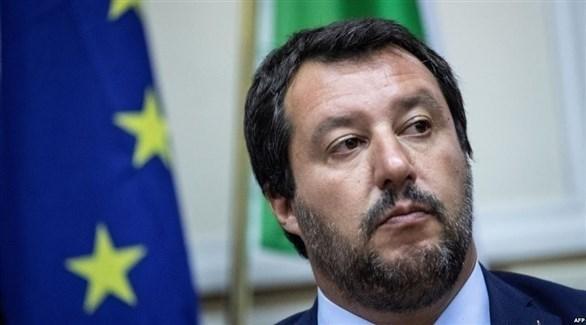 وزير الداخلية الإيطالي ماتيو سالفيني (أ ف ب)