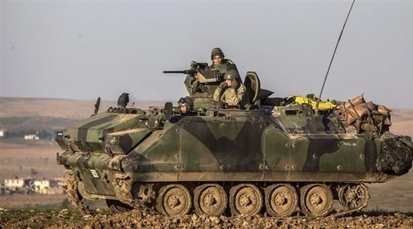 جنود في مدرعة تركية (أرشيف)