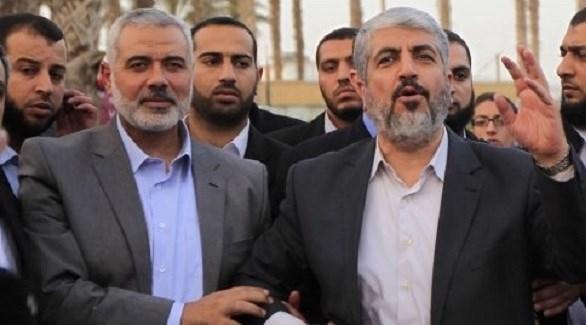 قادة حركة حماس إسماعيل هنية وخالد مشعل (أرشيف)