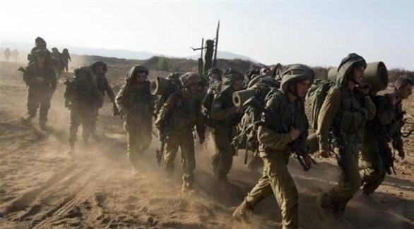 قوة عسكرية راجلة على مشارف قطاع غزة (أرشيف)
