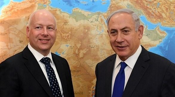 رئيس الوزراء الإسرائيلي والمبعوث الأمريكي للشرق الأوسط جيسون غرينبلات (أرشيف)