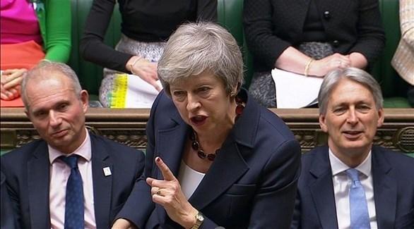 رئيسة الوزراء البريطانية تيريزا ماي في مجلس العموم (أرشيف)