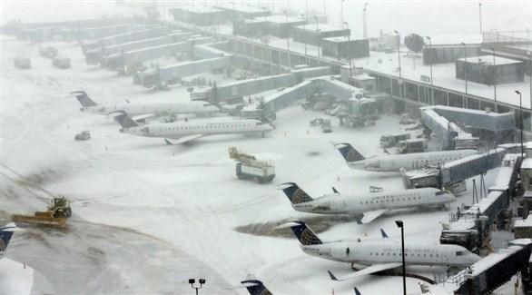 طائرات متوقفة بسبب العاصفة الشتوية (أرشيف)