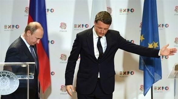 رينزي إلى جانب بوتين (أرشيف)
