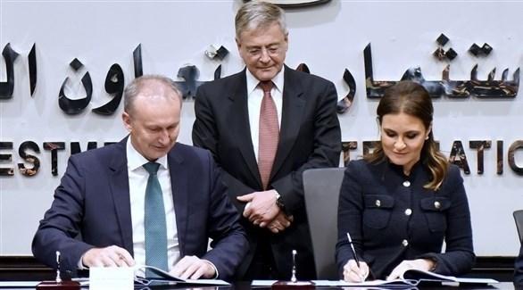 من مراسم توقيع الاتفاق بين مصر وألمانيا (وزارة التعاون الدولي المصرية)