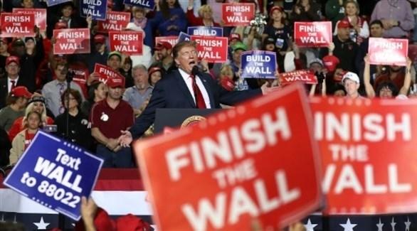 ترامب يلقي خطابا في ال باسو في تكساس (أ ف ب)
