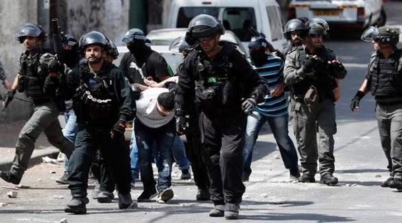 الشرطة الإسرائيلية خلال حملة اعتقالات في الضفة الغربية (أرشيف)