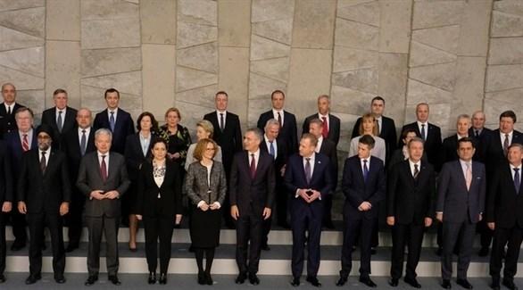 وزراء دفاع دول حلف شمال الأطلسي الناتو في بروكسل (EPA)