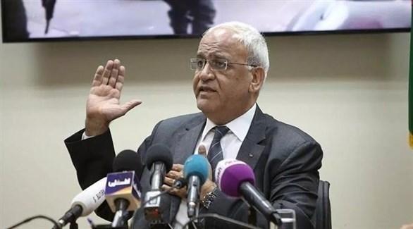 أمين سر اللجنة التنفيذية لمنظمة التحرير صائب عريقات (أرشيف)