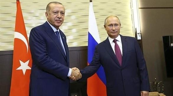 الرئيسان الروسي فلادمير بوتين والتركي رجب طيب أردوغان (أرشيف)