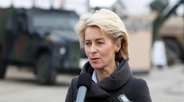 وزيرة الدفاع الألمانية فون دير لاين (أرشيف)