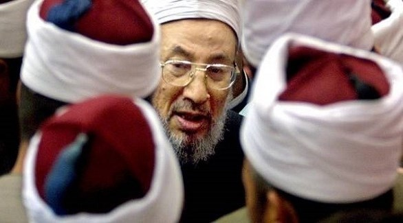 القيادي في تنظيم الإخوان الإرهابي المقيم في قطر يوسف القرضاوي (أرشيف)