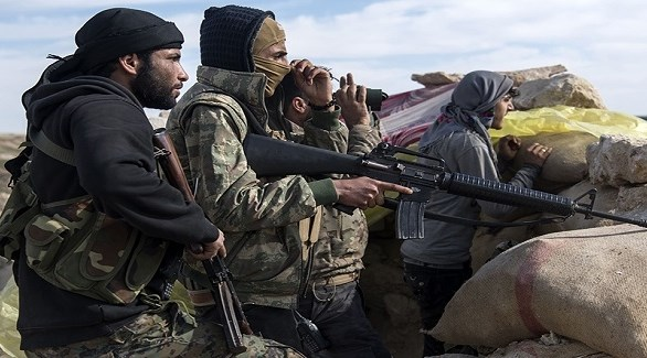 مسلحون من داعش في الباغوز (أرشيف)