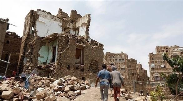 دمار تسبب به قصف لميليشيا الحوثي (أرشيف)