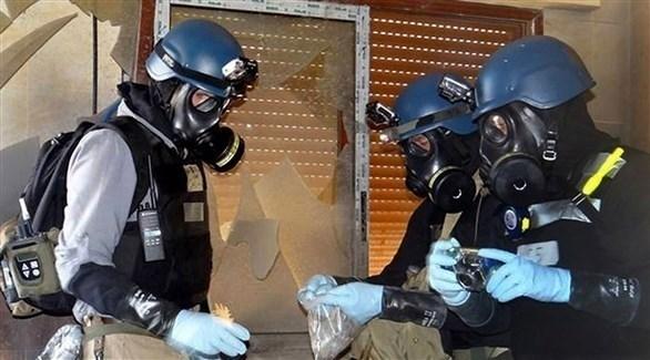خبراء من منظمة حظر الأسلحة الكيميائية في سوريا (أرشيف)