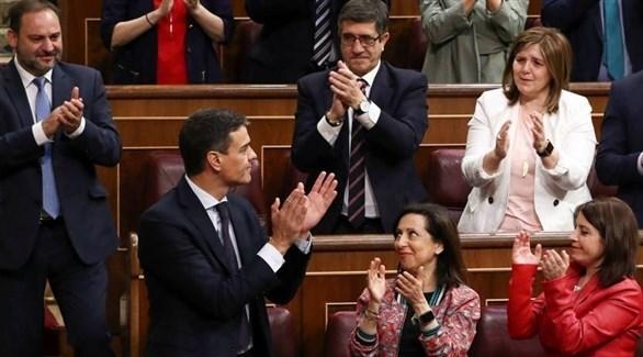 رئيس الوزراء الإسباني بدرو سانشيز في البرلمان الإسباني (أرشيف)