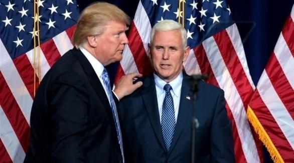 ترامب ونائبه مايك بنس (أرشيف)