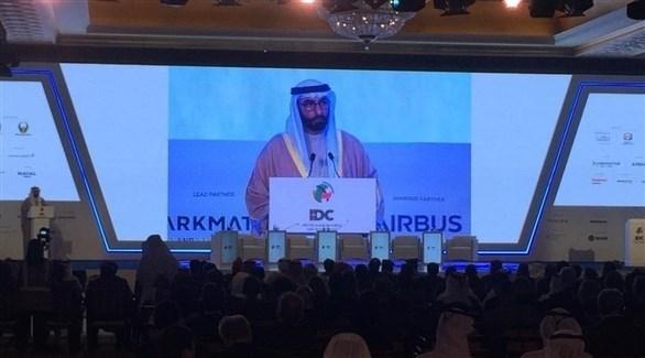 محمد البواردي يلقي الكلمة الرئيسية لمؤتمر الدفاع الدولي (من المصدر)
