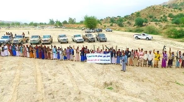 تجمع لمسلحي قبائل حجور ضد الميليشيا الحوثية (أرشيف)