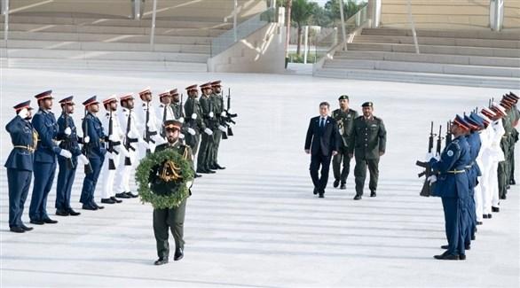 وزير الدفاع الوطني في جمهورية كوريا الجنوبية جونغ كيونغ خلال زيارته واحة الكرامة (وام)