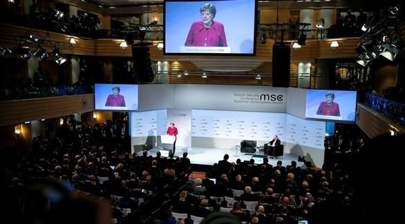 المستشارة الألمانية أنجيلا ميركل في مؤتمر ميونخ (إ ب أ)
