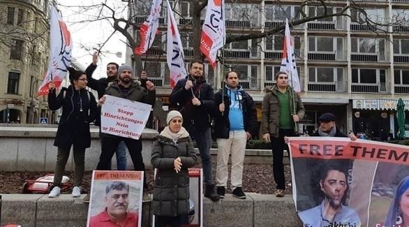 تظاهرة داعمة للناشط إسماعيل بخشي من برلين (انستغرام)