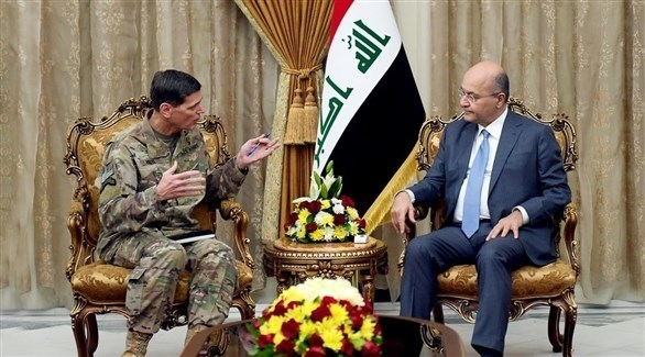 صالح مستقبلاً الجنرال فوتيل (الرئاسة العراقية / تويتر)