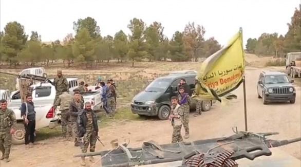 مسلحون من قوات سوريا الديمقراطية في الباغوز (أرشيف)