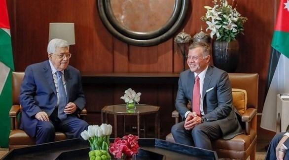 العاهل الأردني الملك عبدالله الثاني والرئيس الفلسطيني عباس (أرشيف)