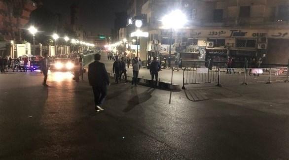 الشرطة المصرية تطوق مكان الانفجار (تويتر)